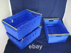 10 New Blue Stack Removal Storage Crate Box Container 44L
