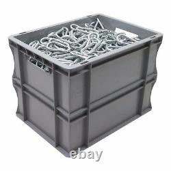 10 x 25 Litre Strong Grey Plastic Parts Storage Container Euro Boxes Box Bins