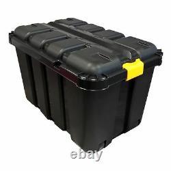 145l Heavy Duty Black Plastic Toy Chest, Toy Box, Games, Storage Box, Lego, Doll