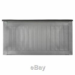 190L Outdoor Garden Plastic Storage Utility Chest Cushion Shed Box Waterproof UK