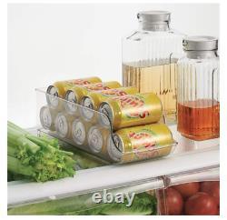 2 x Fridge Can Storage Box Container Set Kitchen Food Organiser Holder New