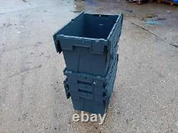 20 X 75ltr EXTRA DEEP Heavy Duty Plastic Storage Tote Boxes 600 x 400 x 400mm