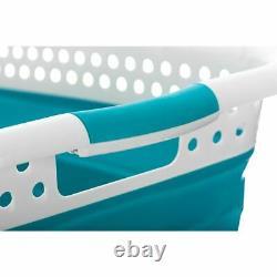 37l Folding Collapsible Laundry Basket Cloth Washing Space Saving Pop Up Bin