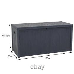 430L Large Plastic Storage Chest Container Box Garden Bench Seat Tools Box Trunk