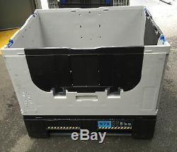 5 x PLASTIC STORAGE FOLDING PALLET BOX CONTAINER MAGNUM FLC K975 500KG