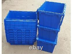 50 X Boxes. Plastic Crate, Tote Box Self Storage, Stackable Boxes, 80L Container
