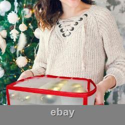 64 Baubles Storage Box Christmas Xmas Tree Decoration Organiser 64 Bauble Decor