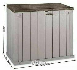 842L Outdoor & Indoor Garden Storage Box Tools Shed Bin Store 2Door Front Access
