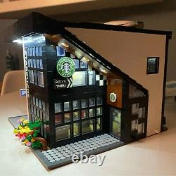 Architecture City Creator Expert Modern Cafe Building Block Set Store Shop Ideas