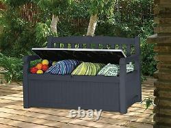 BEAUTIFUL Keter Bench 265L Outdoor Storage Box Garden Furniture Weatherproof