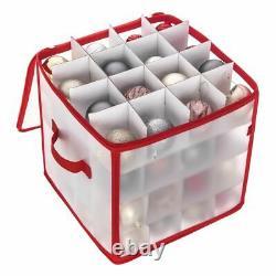 Bauble Storage Box Christmas Xmas Tree Decoration Organiser 64 Baubles Decor