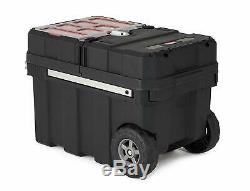 Black 24 Pro Mobile Workshop Tool Chest Cabinet Box Rolling Storage Travel
