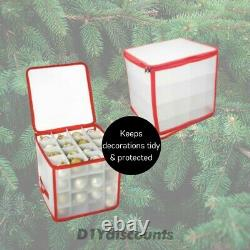 Christmas Decoration Bauble Storage Box Holds 128 Baubles Tidy Easy Xmas