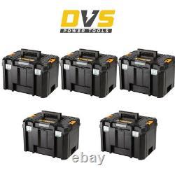 DeWalt DWST1-71195 5x Deep Tool Storage Boxes TSTAK VI (No Tote Tray & Inlay)