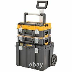 DeWalt Mobile Box Bundle Trolley Large Storage Boxes long handled organiser case