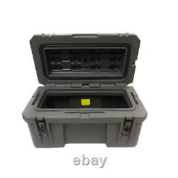 Double-Walled Expedition Overland Camping 52L Grey Plastic Tool Storage Box
