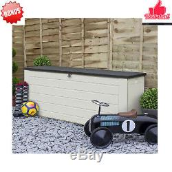 Extra Large 680L Outdoor Garden Storage Box Plastic Utility Chest Storage Bench