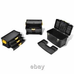 Extra Large Plastic Tool Box On Wheels Rolling Storage Cabinet Chest 3 Drawers