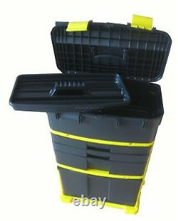 Extra large Tool Box On Wheels Rolling Heavy Duty Plastic Storage Cabinet Chest