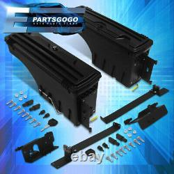 For 02-20 Ram 1500 2500 3500 Truck Bed ABS Wheel Well Storage Tool Box Case Pair