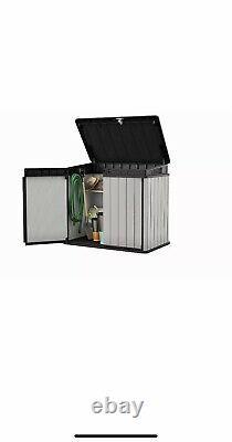 Garden Lockable Storage Box Bike Shed Tool Shed Bin Shed- 124 x 140cm XL SIZE