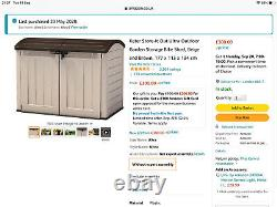 Garden Shed Storage Box Keter 17199414 Store It Out Ultra Storage Shed Brown
