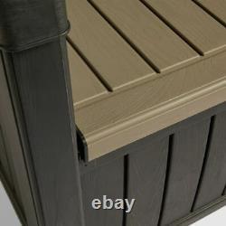 Garden Storage Bench Outdoor Garden Storage Box All Weather Plastic