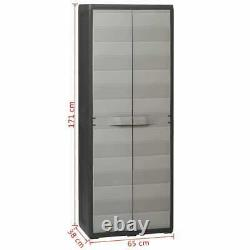 Garden Storage Cabinet Cupboard Outdoor Tool Box Chest Garage Shed 3 Shelves