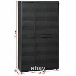 Garden Storage Cabinet with Shelves Cupboard Utility Tool Box Organizer Plastic