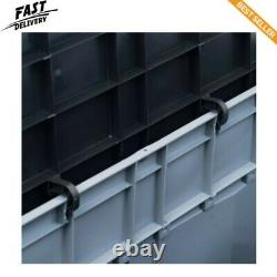 Garden Storage Chest Poly Rattan Brown Outdoor Patio Utility Box Case 420 L
