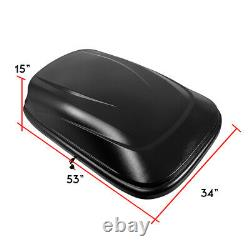HEAVY DUTY ABS VEHICLE ROOF TOP STORAGE BOX CARGO LUGGAGE CARRIER With LOCK & KEY
