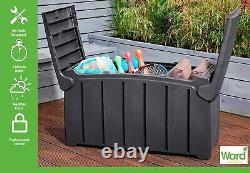 Heavy duty outdoor Waterproof Plastic Garden Storage Bench seat Box lockable