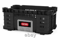 KETER ROC Rigid System Wheeled Professional Tool Storage Set of Tool Boxes Cart