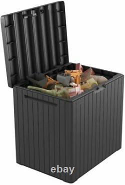 Keter City Outdoor Storage Box Dark Grey Durable Weather Resistant Fade Free
