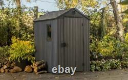 Keter Darwin Shed Grey 6 X 4 Ft Waterproof Outdoor Garden Storage Box Window