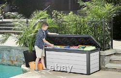 Keter Denali Garden Storage Deck Box XL or L Size Shed Piston Hinge Waterproof