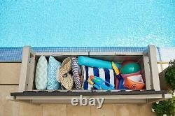 Keter Eden Bench Outdoor Plastic Storage Box Garden Furniture Beige and Brown