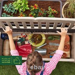 Keter Eden Bench Outdoor Plastic Storage Box Garden Patio Furniture