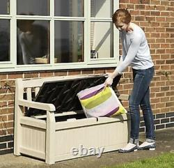 Keter Eden Bench Outdoor Storage Box Garden Furniture- BROWN. FREE DELIVERY