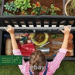 Keter Eden Bench Storage Shed Garden Outdoor Box Garden Furniture Outside Box