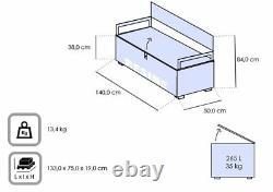 Keter Eden Graphite Plastic Garden Storage Bench Box Waterproof New Colour