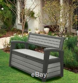 Keter Hudson Iceni Eden Plastic Garden Storage Bench Box Waterproof