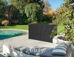 Keter Java Garden Storage Deck Box 230 Gallon Waterproof XXXL Grey or Brown
