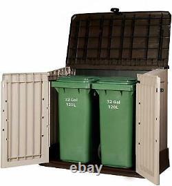 Keter Midi Small Garden Storage Shed Box 845L Lock Outdoor Waterproof Plastic