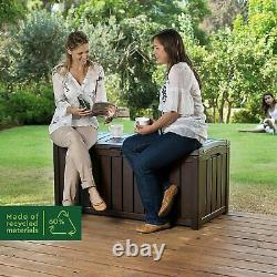 Keter Outdoor Storage Box Garden Furniture, Brown, 128 x 65 x 61 cm