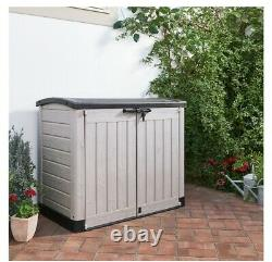 Keter Store-It Out Arc Outdoor Garden Storage Box Shed Beige 1200L FREE P+P