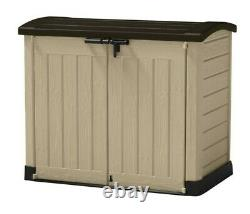 Keter Store-It Out Arc Plastic Garden Storage Box Shed Outdoor Beige/Brown 1200L