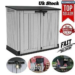 Keter Store It Out MAX Garden Lockable Storage Box XL Shed Outsid Bike Bin Tool