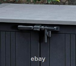 Keter Store It Out MAX Garden Lockable Storage Box XL Shed Outside Bike Bin Tool