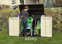 Keter Store-It-Out Max 1200L Garden Storage Box Plastic Wheels Outdoor Bin Tool